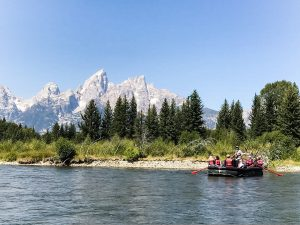 A Triangle X raft tour floating the Snake River