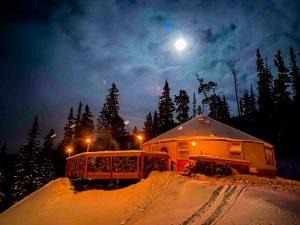 Montana Dinner Yurt, one of the most off the beaten path restaurants